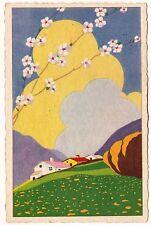 Art Deco paesaggio primavera  ed. Cesare Capello-Milano n.630