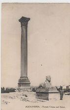 WW1 ANZAC postcard Pompey Column & Sphinx Alexandria Egypt to Mrs Irwin Tasmania