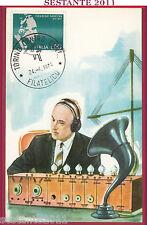ITALIA MAXIMUM MAXI CARD ROMA 59 GUGLIELMO MARCONI 1974 ANNULLO TORINO B770