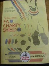 10/08/1985 FA Charity Shield: Everton v Manchester United & England U16 v Yugosl