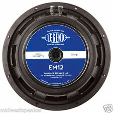"Eminence LEGEND EM12 12"" Guitar Speaker 8 ohm FREE SHIPPING! EVM-12L Replacement"
