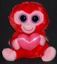 """TY BEANIE BOOS BOO'S - CHARMING the 9"""" MONKEY (MEDIUM) - MINT with MINT TAG"""