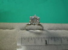 CZ Cubic Zirconia Solitaire Ring 2 Carat 6 Prong 14K White Gold, SIGNITY CZ