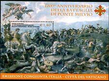 ITALIA 2012 1700° ANNIVERSARIO DELLA BATTAGLIA DI PONTE MILVIO - FOGLIETTO