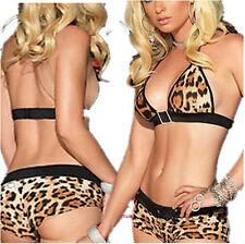 Woman Leopard Dress Set Sexy Sleepwear Lingerie Underwear Bikini sex toys EY69