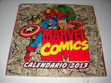 calendario MARVEL COMICS 2013 VINTAGE Avengers, Spiderman Hulk Blisterato Rare!