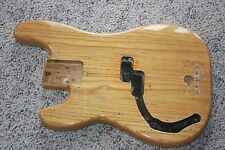 1970's LEFTY left-handed Fender Precision bass body natural 6 lb 8 oz