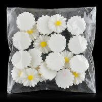 20pcs White Daisy 12mm Sunflower Flat Resin Scrapbooking For Phone/Craft/DIY