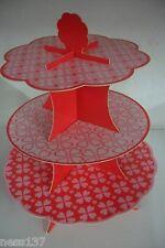 Présentoir à Cupcakes 3 Etages en Carton Fete Mariage Bapteme Anniversaire