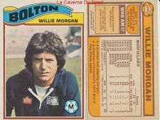265 WILLIE MORGAN # SCOTLAND BOLTON WANDERERS CARD PREMIER LEAGUE TOPPS 1978
