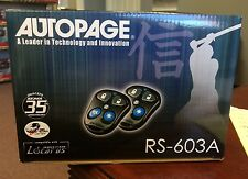 Autopage RS603A Car Remote Start Starter+Keyless Entry System Brand New C3RS603