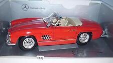 BBURAGO 1/18 MERCEDES BENZ 300sl ROADSTER ROSSO (1957 - 1963) OVP #1136