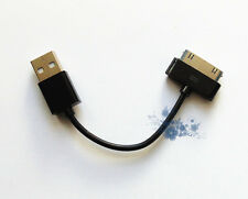 Nuevo Short USB Data Cable Sync Lead para iPhone 4S 4 4G 3GS 3, iPad negro GB