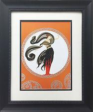 "Erte ""Flames of Love"" Newly CUSTOM FRAMED Print Art Deco Design Classic Decor"