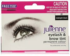 Julienne Eyelash and Eyebrow Permanent Midnight Black 01 Colour Tint 15ml …