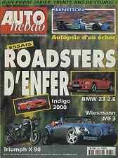 AUTO HEBDO n°1061 du 21/11/1996 WIESSMAN MF3 INDIGO 3000 BMW Z3 2.8 JP JARIER