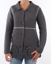 ODD MOLLY 020C COTTON GRANDMA KNIT CROCHET COAT/CARDIGAN SIZE 1 or 3 RP£249