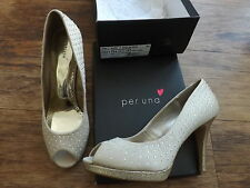 M&S PER UNA BEIGE GOLD MIX SHOES SIZE 6 EUR 39.5 INSOLIA LADIES BNWT RP £35