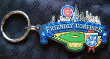 Chicago Cubs Old Style Beer Friendly Confines Wrigley Field Skyline New Key Ring