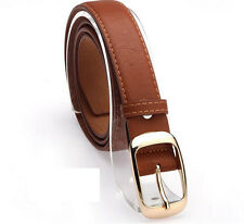 Fashion Womens Paint Leather Alloy Pin Buckle Waist Strap Belts Waistband gl