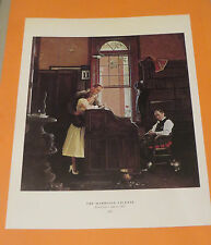 Norman Rockwell BREAKING HOME TIES THE MARRIAGE LICENSE Book Pressing Print