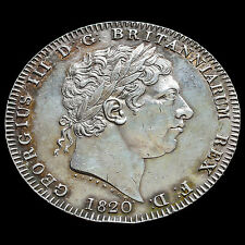 1820 George III Milled Silver LX Crown – EF
