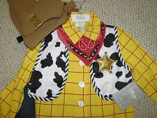 NEW Disney Store WOODY costume Toy Story sz 10 cowboy Halloween Dress up