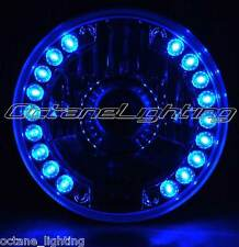 "7"" Projector Halogen Motorcycle Blue LED Halo Light Bulb Headlight For: Harley"