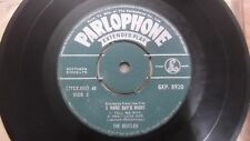THE BEATLES GEP 8920 GREEN PARLOPHONE SHOULD HAVE KNOWN SINGLE INDIA 17 VG