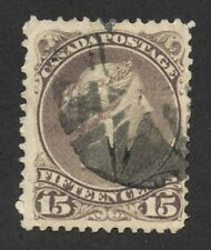Canada 1868 Large Queen 15c brownish purple Perf 11.5x12 #29a cork cancel