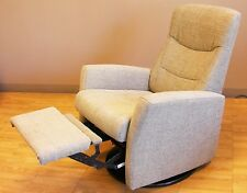 Fjords Oslo Large Swing Relaxer Manual Recline Recliner Chair Light Brown Fabric
