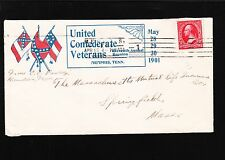 United Confederate Veterans 11th Reunion May 1901 Memphis TN 4.15.01 Cover 7y