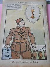 Humour Le Prix du Sang Taxe sur les Messes Berlin dessin Print 1936