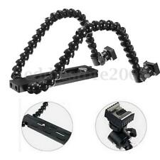 Flexible Dual/Twin-Arm/Hot shoe Flash Bracket for CANON NIKON PENTAX MACRO SHOT