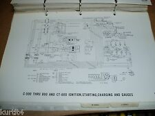 1971 Ford truck C600 C700 C800 CT-series wiring diagram SHEET service manual