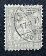 Timbre SUISSE - Stamp SWITZERLAND - Yvert et Tellier n°33 (a) obl (Cyn15)
