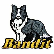 Iron-on Border Collie Dog Patch With Name Personalized Free