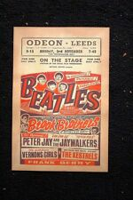Beatles Tour Poster 1962 Odeon #1