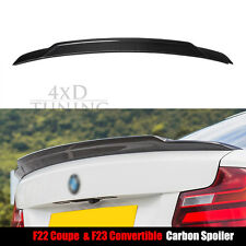 Carbon Fiber Rear Spoiler Boot Lid Wing for BMW 2 Series F22 F23 F87 M2 2014 +