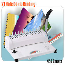 Professional Manual Comb Binding Machine 21 Hole A4 Plastic Coil Punch Binder