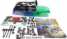 Axial SCX10 Jeep Wrangler Falken Painted Body w/ Interior Roll Cage Light Bar