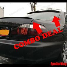 COMBO Spoilers (Fits: Honda Accord 1998-02 4dr) Rear Roof Wing & Trunk Lip