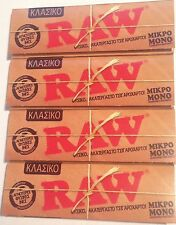 Raw Classic Single Wide Standard Normal Regular-Natural Rolling Papers 4x50=200