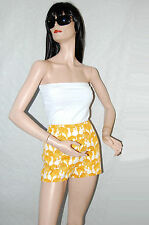 100% Authentic Gianni Versace Leopard Print High Waisted Womans Shorts 30/44