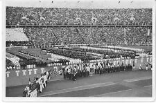 WWII GERMAN- Large 1936 OLYMPIC Photo Image- Sports- Opening Ceremony- Berlin