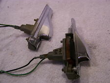 1966 CHRYSLER NEW YORKER FRONT FENDER TURN SIGNALS - NICE OEM PAIR