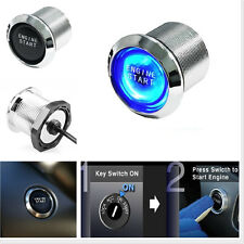 Universal Power Switch BLUE LED Light Keyless Engine Ignition start/ stop button