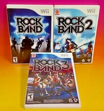 Rock Band 1, 2, 3 Lot for - Nintendo Wii - Game Music Bundle Rare Trilogy