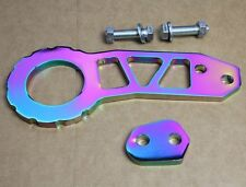Neo Chrome BILLET RACING CNC ALUMINUM REAR TOW HOOK TOWING KIT 92-95 Honda Civic