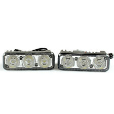 2*Car High Power 3LED Lamp Fog Lamp On Small Harpoon Far The DRL 12V White Light